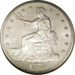 Because of the worry that dollars leaving the country would create a domestic currency shortage, in the late 19th century countries often coined separate money for foreign trade, like this US Trade Dollar