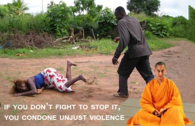 When you don't defend yourself, or others who seek it, you make unjust violence safer to commit